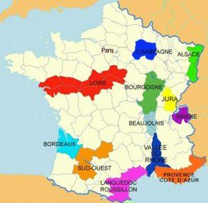 Wijnstreken Frankrijk